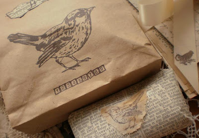 Gift Wrapping with Bird Theme