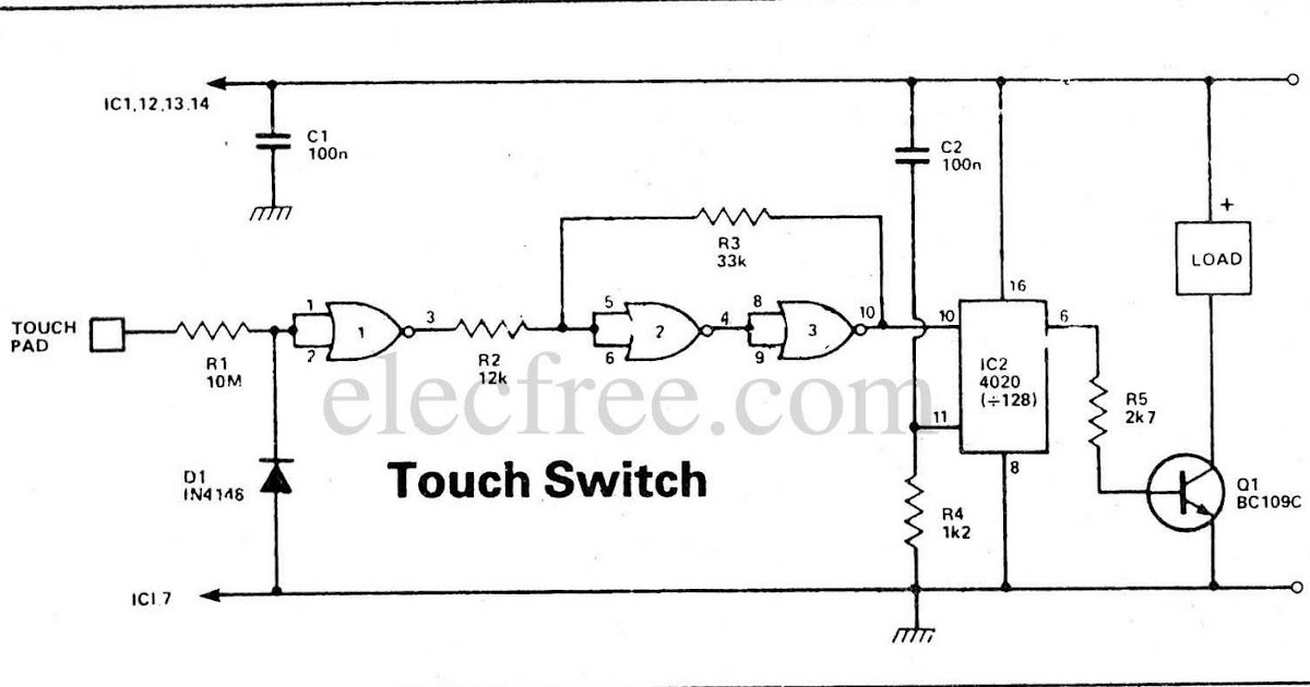 Touch Switch By Ic on Touch Lamp Switch Wiring Diagram