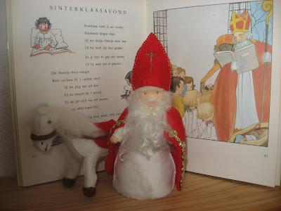 Paard en Sinterklaas van vilt