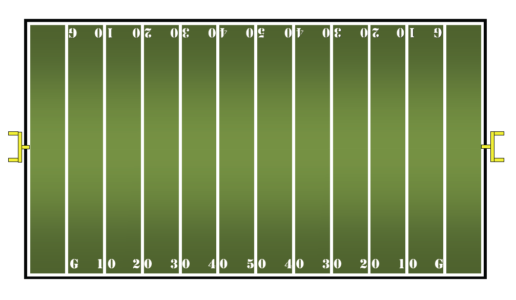 Math center ideas free multiplication fact game for Blank football field template