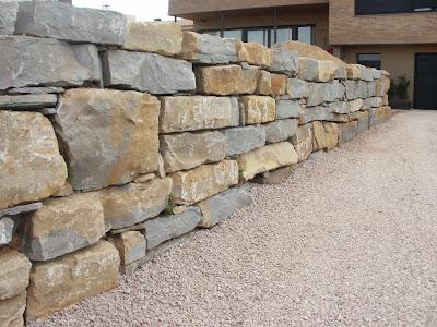 B y r excavaciones s l nuevos trabajos realizados - Muro de piedra natural ...