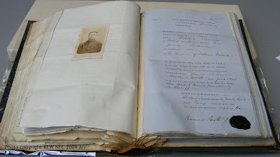Death warrant and carte of Sutherland 1883
