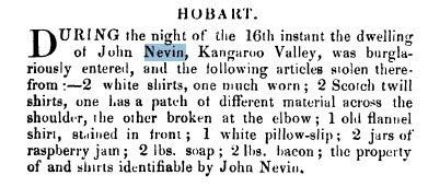 John Nevin burgled 1881