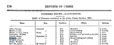 Gregsons convicted 1871