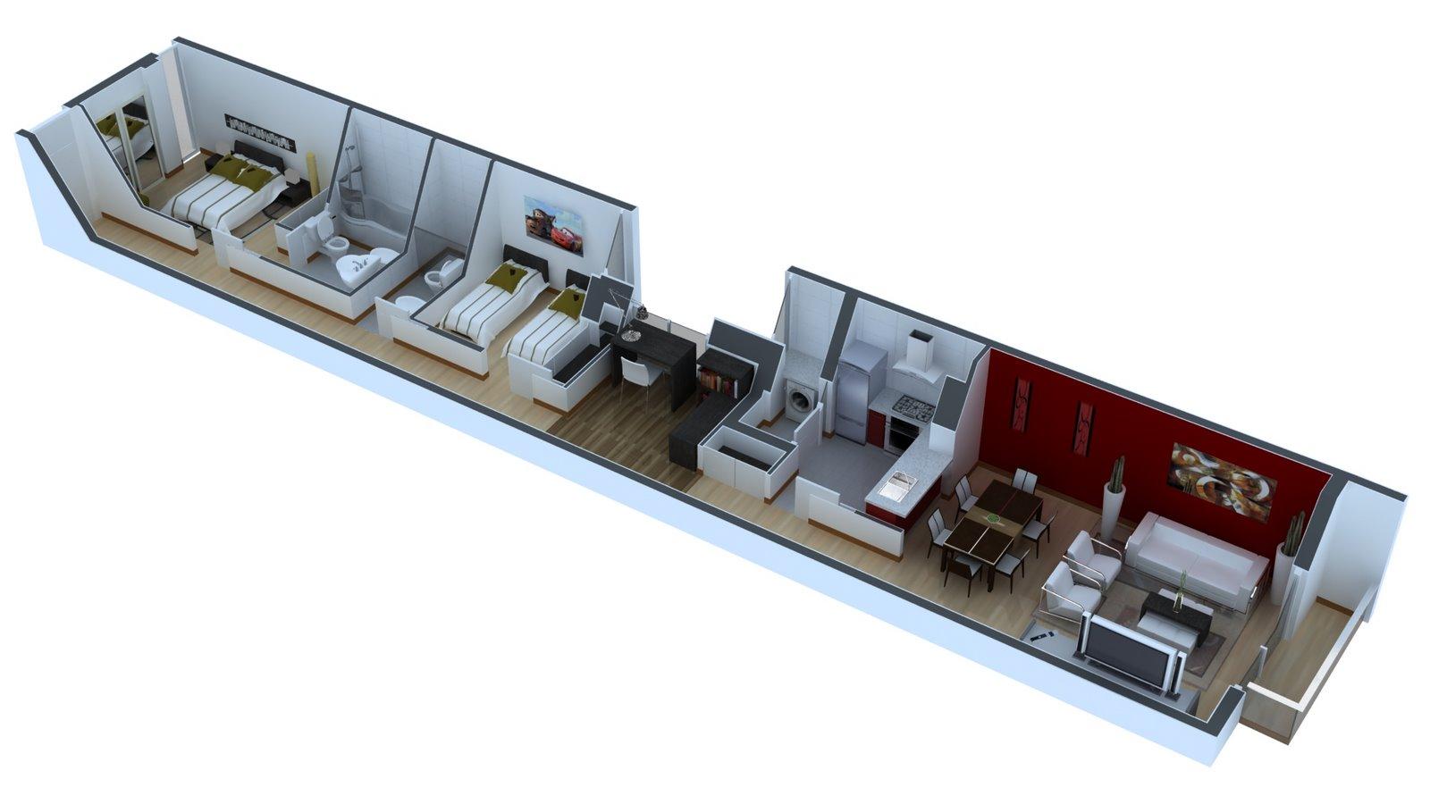 Interior Designers Nyc 3dcow Railroad Apartment