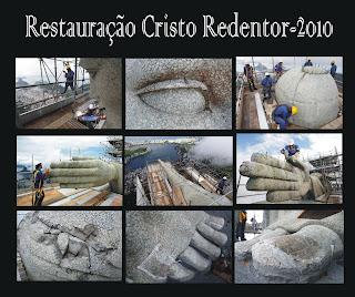 Resultado de imagem para cristo redentor restauração
