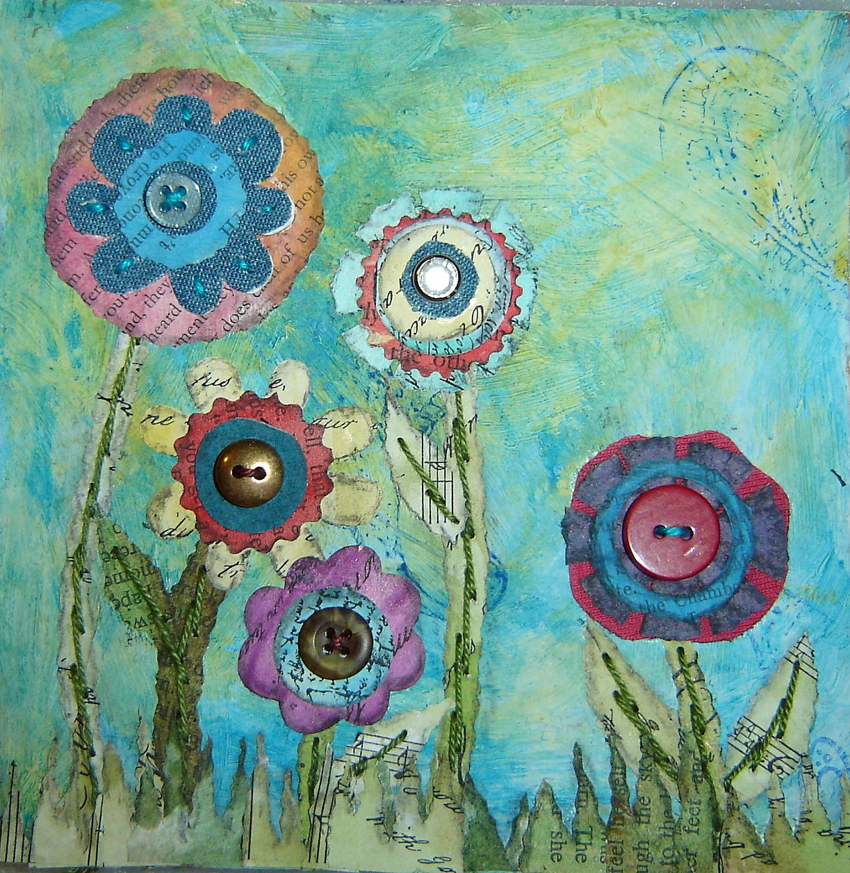 Flower Collages Papemelroti Gifts Inspiration Art Crafts
