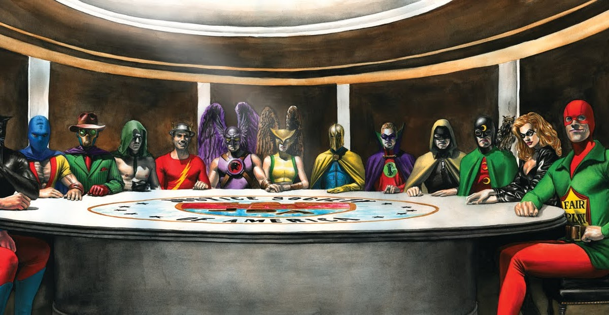 Toyriffic: Smallville Absolute Justice JSA Painting