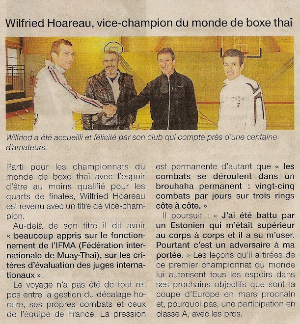 ARTICLE DU 23/12/09 JOURNAL OUEST FRANCE