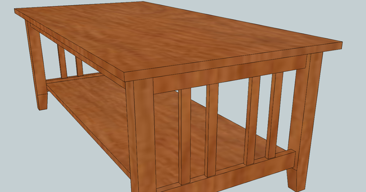 Chris' Project Page: Craftsman Style Coffee Table - Frame ...