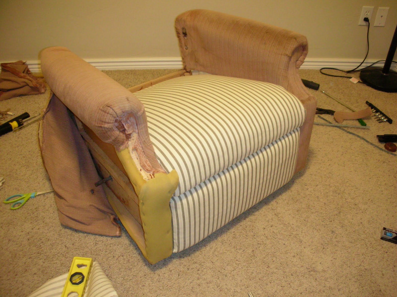 reupholster leather sofa diy modesto table do it yourself divas an old la z boy