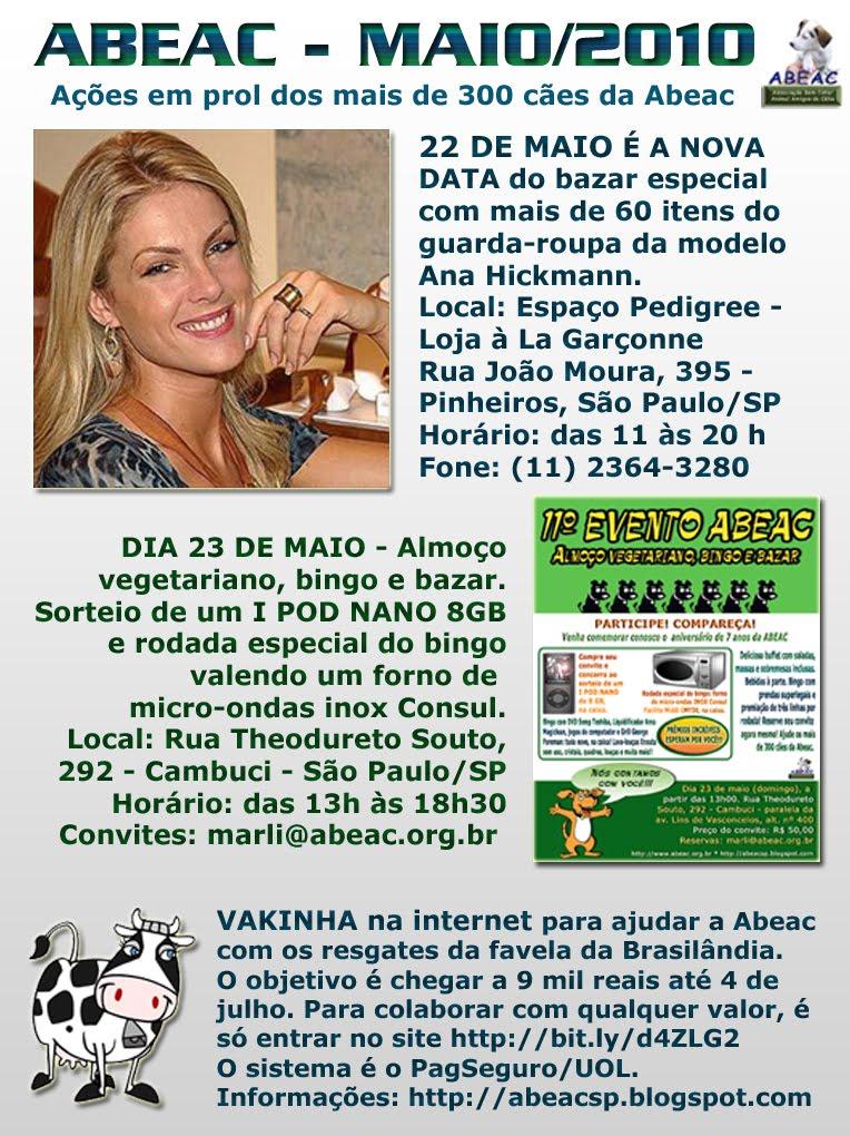ABEAC  Eventos ABEAC  bazar com roupas doadas por Ana Hickmann é ... 0201ce1c1f