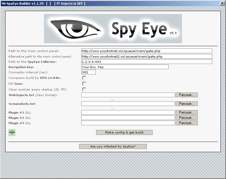 XyliBox: SpyEye Builder v1 1 39 read nfo Cracked-RED