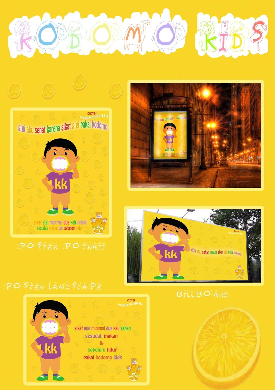 Pasta Gigi Kodomo Adalah Pasta Gigi Anak Dengan Rasa Jeruk Poster Ini