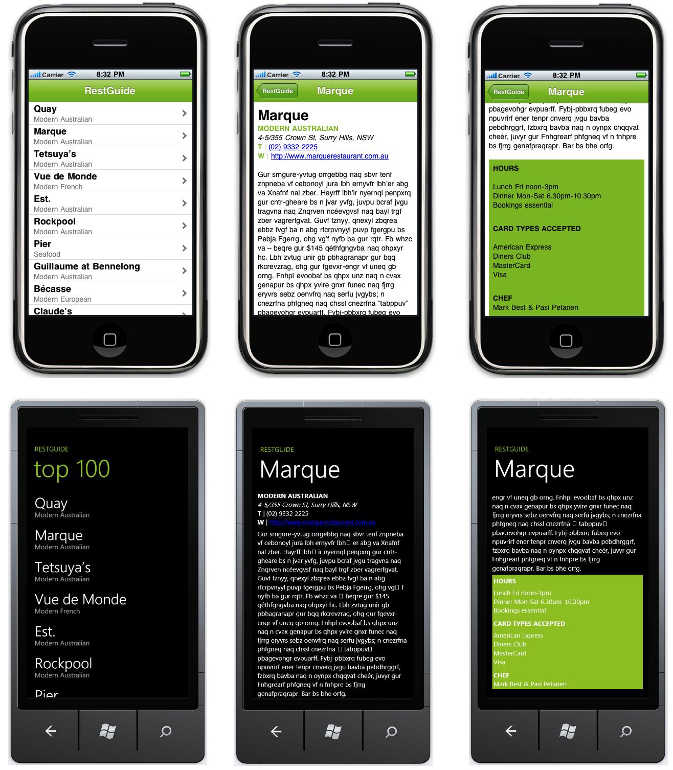 ConceptDev (Craig Dunn's Blog): MonoTouch Meet WindowsPhone7