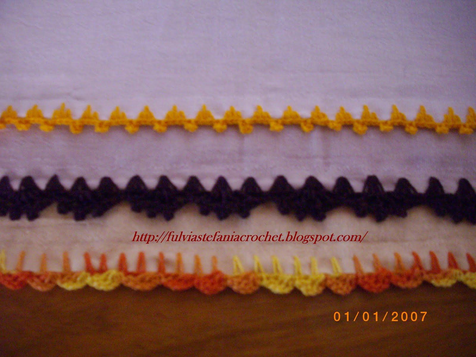 Crochet Teia de Aranha By Fúlvia: Bico em croche