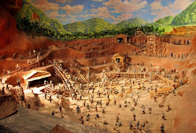 Mining diorama at the Kathu Tin Mining Museum