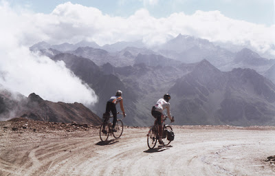 Me and Giles in the Pyrenees, 1990, photo taken by Rob