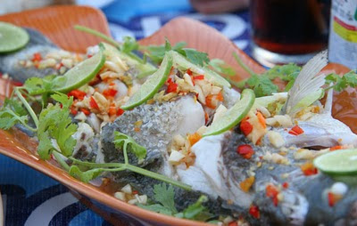 Fish dish at The Beach Bar