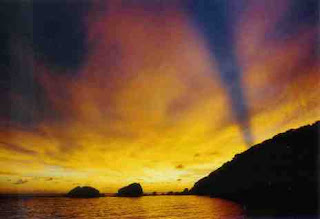 Sunset at the Similan islands