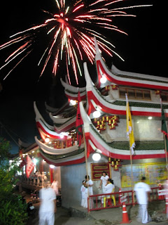 Kathu shrine and fireworks