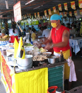 Cooking up some vege food, Phuket Town