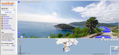 MapJack view of Cape Phromthep, Phuket