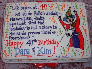 Cake Believe Maxineon turning 40