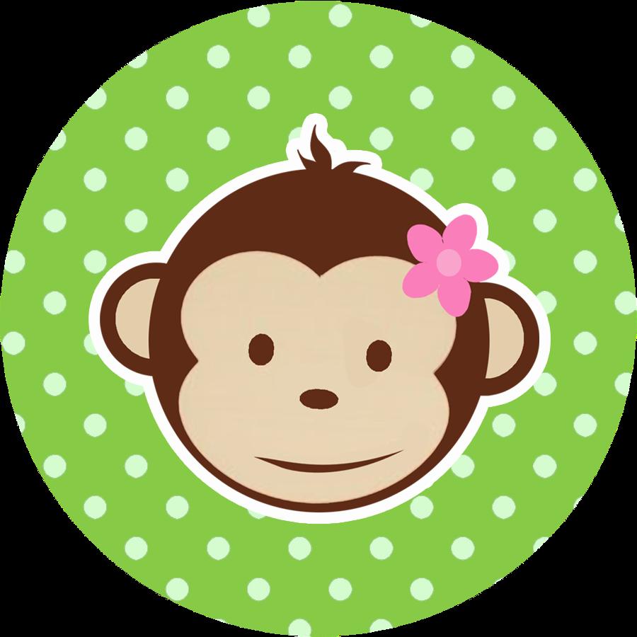 Little Girl Monkey Birthday Cake