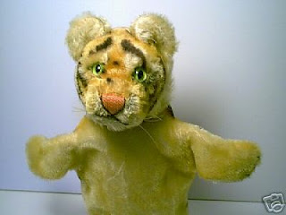 Steiff tiger puppet