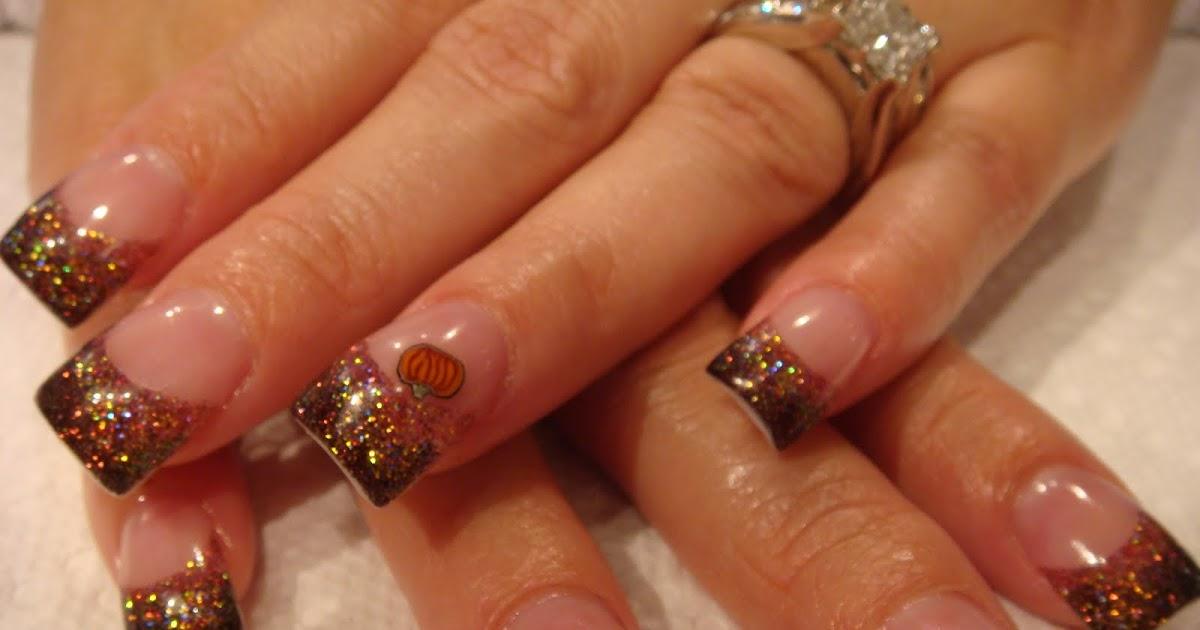 AUTUMN PUMPKIN ACRYLIC NAILS   Nails Acrylic