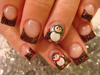 CUTE CHRISTMAS NAILS 2010 | Nails Acrylic