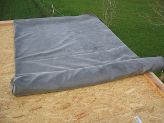 la chaumezon toiture contreventement et pose du pare pluie. Black Bedroom Furniture Sets. Home Design Ideas
