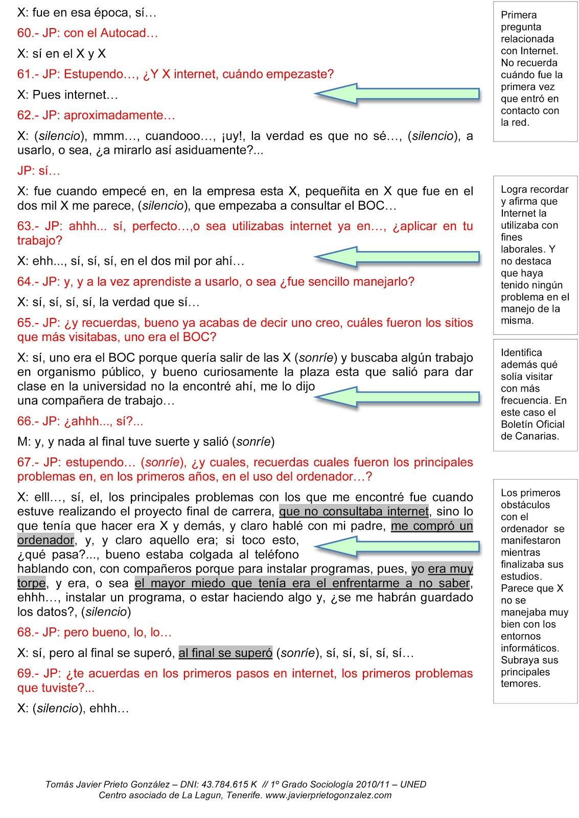 Javier Prieto González: Informe Analítico: Apuntes de transcripción ...
