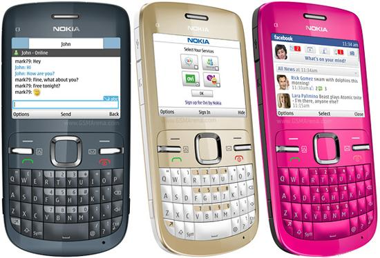 Nokia, hape qwerty, java, c3