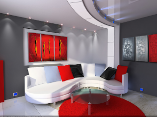 Bimagouk Modern Interior Design Ideas And More Black White And A Red Hot Accent