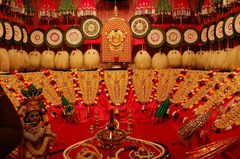 Fragrance Of Thought Flowers Trichur Pooram Procession Decorations