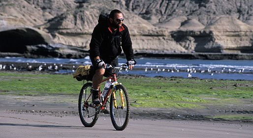 Adventure in Montain Bike Puerto Piramides Patagonia Argentina