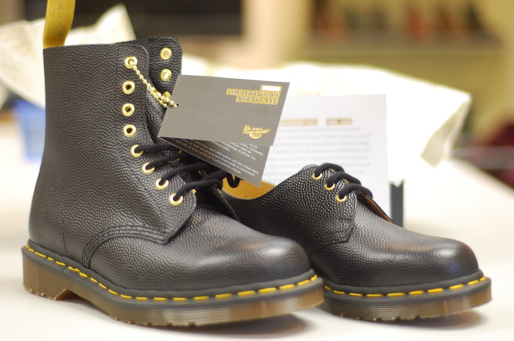 official photos 7a749 6383f Celebrating fifty golden years of Dr Martens. The limited edition iconic  eight eye 1460 boot and the classic three eye 1461 shoe.