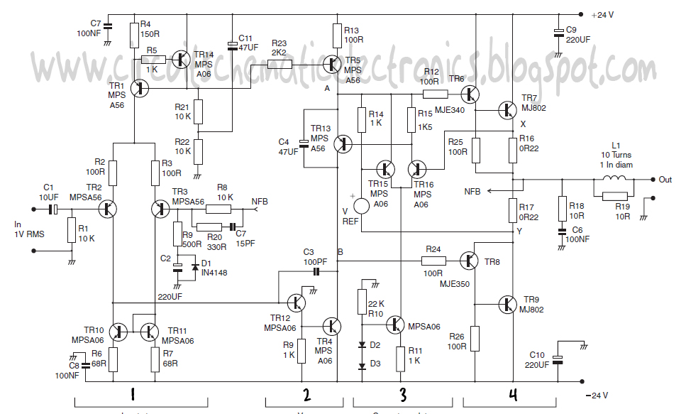 power amplifier class-a circuit