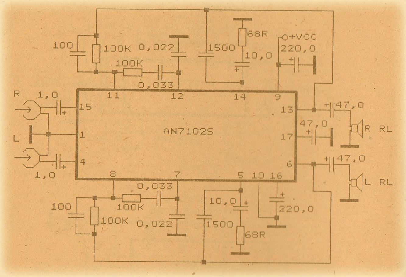 Schematic Audio Amplifer With Ic An315 Wiring Diagrams Surroundaudioamplifiercircuitdiagramjpg Power Amplifier Circuit Anxxxx Collection Electronic Rh Elcircuit Com