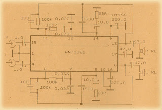 Power Amplifier Circuit with IC AN7102s