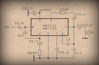 Audio Power Amplifier with IC AN7110 / AN7130