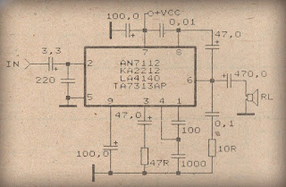 Power Amplifier Circuit with IC AN7112