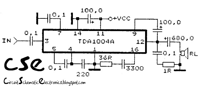 30 Watt subwoofer power amplifier circuit
