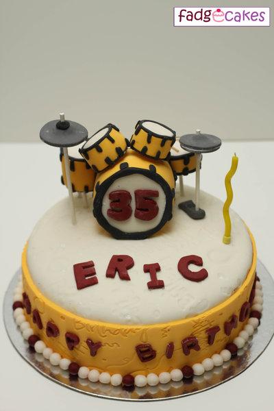 Drum Set Fondant Cake Erics 35th Birthday