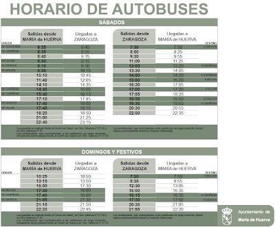 TRANSPORTE PÚBLICO EN ZARAGOZA: NUEVOS HORARIOS DEL AUTOBÚS ...