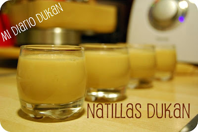 Natillas Dukan de leche y Agar