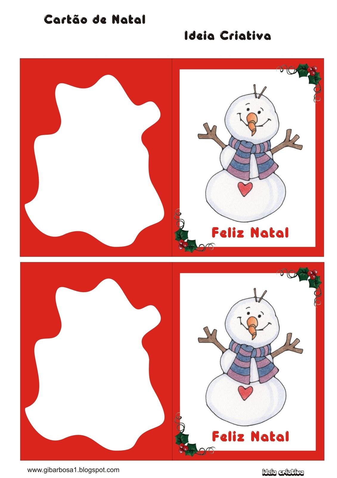 Cartoes De Natal Pra Imprimir