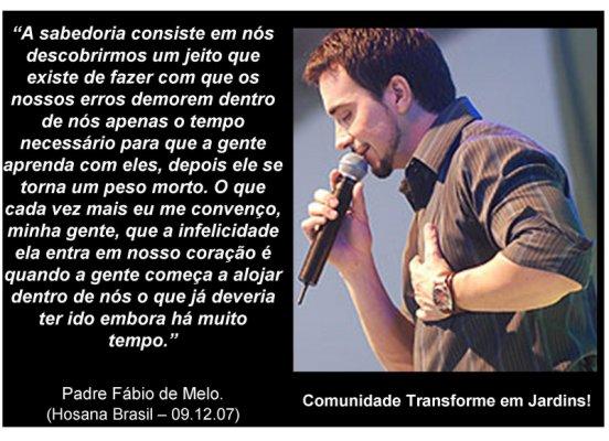 Frases De Padre Fábio De Melo Sobre O Amor: Eu E A Poesia: Julho 2010